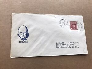 Canada 1943 Patriotic Cover +Sir Churchill Portrait Cachet + Churchill CDS +Rare