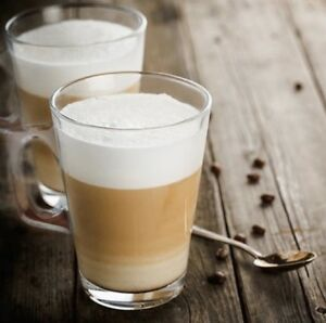 SALE 2x Glass Latte Tea Coffee Mugs Cups Ideal For Tassimo & Dolce Gusto Pods