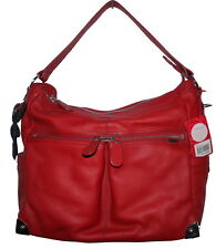 Il Tutto Stella Hobo Red Leather Changing Nappy Bag & Accessories NWT SP £199