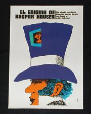 "1977 Original Cuban Movie Poster.Plakat.Affiche.affisch""Kaspar Hauser""German"