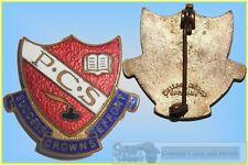 """""""P.C.S."""" Enamelled School Badge by Wallace Bishop, Brisbane"""