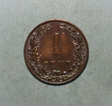 Netherlands 1 Cent 1905 Choice Almost Uncirculated Coin - Queen Wilhelmina I