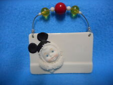Department 56 Snowbabies DISNEY Mickey Mouse MOUSEKETEER Wall Plaque Sign
