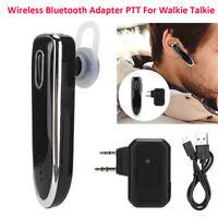 Wireless BT5.0 Adapter Walkie Talkie Radio Headset PTT Earphone Headphone 300mAh