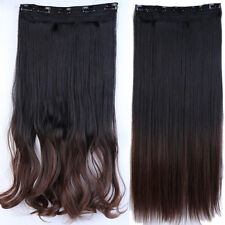 Real Thick,Long Short,3/4 Full Head Clip In Hair Extensions,Brown Black Blonde