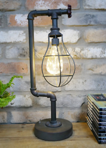 Industrial Table Pipe Lamp Metal Light Quirky Home Decoration
