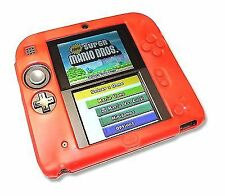 Red Soft Silicone GEL Cover Case for Nintendo 2ds Console UK SELLER