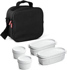 Bolsa térmica porta alimentos con 4 tapers herméticos incluidos, 3 l. capacidad