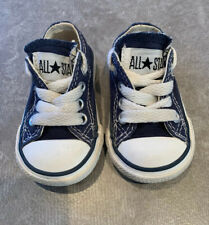 Converse Navy Size 2 Uk Infants Shoes Good Condition