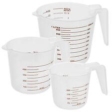 3 Sizes Stacking Measuring Cup Jugs Plastic Kitchen Baking Set Flour Sugar Water