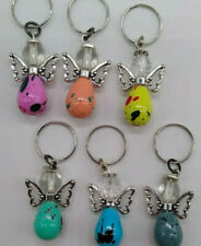 5 or 20pc Guardian Angel Keychain/ Zipper Pull/ Charm; Soeckled Colors; Gifts!!