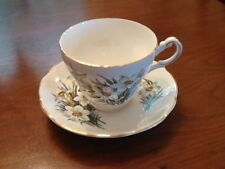 "Regency English Bone China Tea Cup and Saucer ""Narcissis"""
