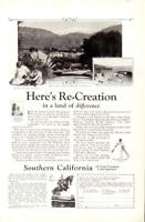 Advertising Southern California Laguna Beach Flintridge Los Angeles Tennis 1926