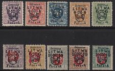 1920 Lituania Centrale/Central Lithuania SRODKOWA LITWA - n° 1/10  MLH/* FIRM...