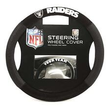 Oakland Raiders Steering Wheel Cover Poly Mesh Suede  USA SHIPPER