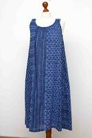 Divine GUDRUN SJODEN Blue Sleeveless Cotton Dress Size S