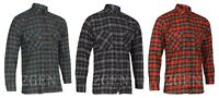 Mens Cotton Flannel Brushed Check Checked Lumberjack Warm Casual Work Shirt