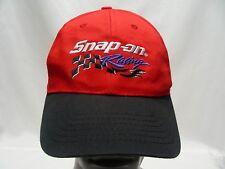 SNAP-ON RACING - RED & BLACK - ADJUSTABLE SNAPBACK BALL CAP HAT!