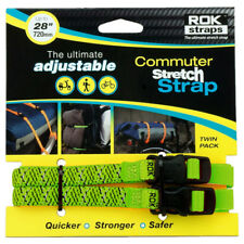 Oxford - ROK Motorcycle Stretch Luggage Strap - Green Reflective 12MM
