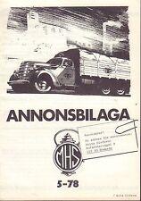 Motorhistoriskt Magasin Annons Swedish Car Magazine 5 1978 Ford 032717nonDBE