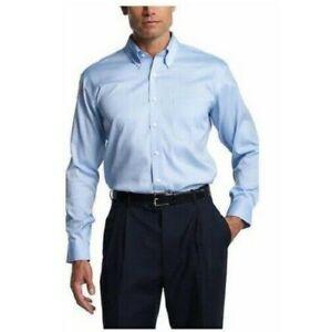 Kirkland Signature Mens Traditional Fit Dress Shirt Blue Sz 18.5 X 34/35 NWT