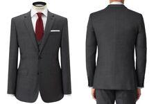 John Lewis Regular Fit Sharkskin Suit Jacket, Grey UK Size 42R BNWT RRP £140