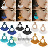 2Pcs Hoop Fan Tassel Earring Fringe Circle Round Drop Straw Boho Earrings 1Pair