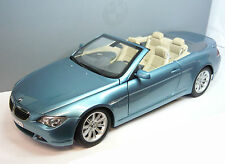Kyosho 80430153440, bmw 6er cabrio Light Blue 1/18 nuevo & en embalaje original dealer Edition