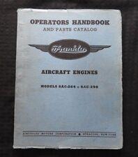 FRANKLIN 6AC-264 6AC-298 Avion Moteur Révision Parties Manuel Bell 30 Xpq 14 15