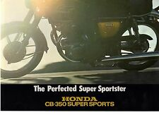 1974 HONDA CB350 SUPERSPORTS 4 Page Motorcycle Brochure NOS