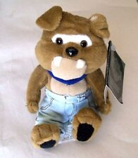 """Harley-Davidson Motorcycle---Plush Biker BULL DOG """"SPIKE""""--- With Tags from 1998"""