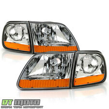 1997 2003 Ford F150 Harley Davidson Style Headlights Withcorner Lamps Leftright Fits 1997 Ford F 150