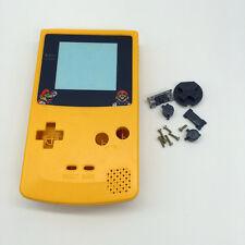 Funda Cubierta Protectora Amarillo con lente de dibujos animados para NINTENDO GBC Gameboy Color