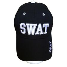 SWAT Hat Black Embroidered One Size Cosplay Costume Halloween