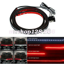 "60"" LED Truck Tailgate Light Bar Red+White Reverse Stop Turn Signal Waterproof"