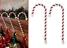 2 Candy Cane Stocking Holders Christmas Xmas Mantel Hooks Hangers Fireplace Set