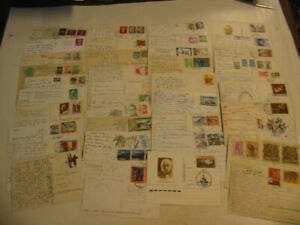 200 Continental Postcard Lot  with stamps