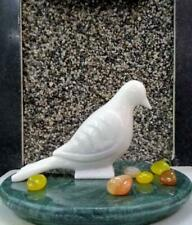 Handcarved Marble Pigeon Small Bird Decorative Sculpture Statue For Home Decor