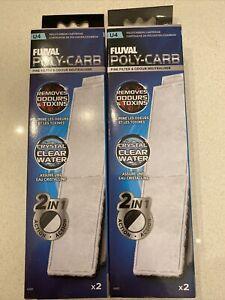 LOT Fluval U4 Poly Cartridge 2 Pack (YOU GET 4 TOTAL)