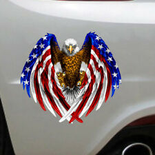 Bald Eagle USA American Flag Sticker Car Truck Laptop Window Decal Bumper Decor