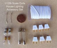 1:12 Échelle Lumière Accessoire Kit Fil Câblé Fusibles Ampoules & Prises Maison