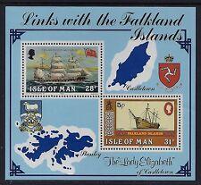 GB 1984 ISLE OF MAN KARRAN FLEET/LINKS WITH FALKLANDS MINISHEET FINE MINT MNH