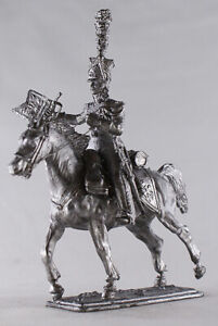 Tin Soldier, 54 mm, Trumpeter of the French Guards Lancers. France 1812