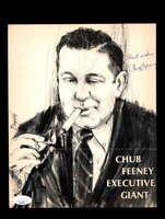 Chub Fenney JSA Coa Signed 8x10 Vintage Photo Autograph