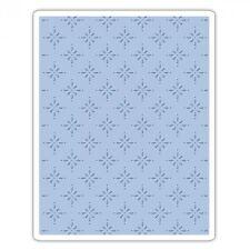 """SIZZIX Texture Fades STAR BRIGHT Embossing Folder  661611 -  5 3/4"""" x 4 1/2"""""""