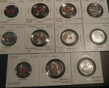 VERY RARE SET Canada 2009 Olympic Quarters. Painted, Enameled, regular. Raised 2