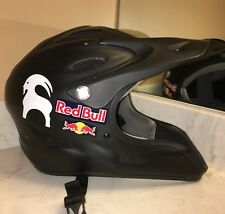 L Simpson Pit Crew Warrior Helmet Red Bull Racing BMX Matte Black Mountain Bike