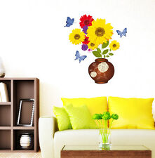 Wall Stickers Sunflower in Flower Pot Bouquet for Living Room  5700071