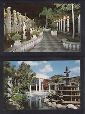 Vintage Postcard Lot FL-CLEARWATER Kapok Tree Inn: Night North Garden & Fountain