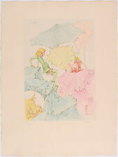 HANS BELLMER - 1972 Hand Signed Color Etching - L'Escalade des Fillettes
